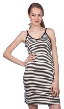 Brave Soul dámské pruhované šaty Ava S čierna