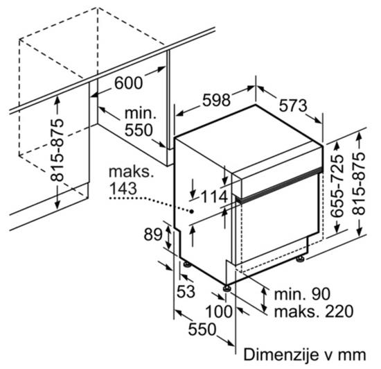 Bosch vgradni pomivalni stroj SMI46KS01E