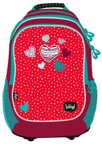 BAAGL Školní batoh Srdce