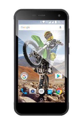 Evolveo StrongPhone G4, LTE, Dual SIM Okostelefon, Fekete