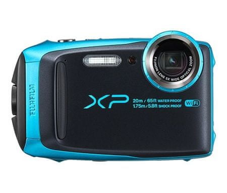 FujiFilm digitalni fotoaparat FinePix XP120, podvodni, moder
