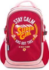 BAAGL Školní batoh s pončem Supergirl – STAY CALM
