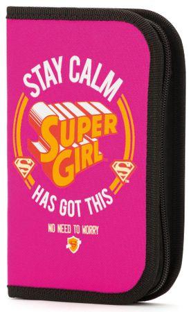 BAAGL Školský peračník Supergirl – STAY CALM