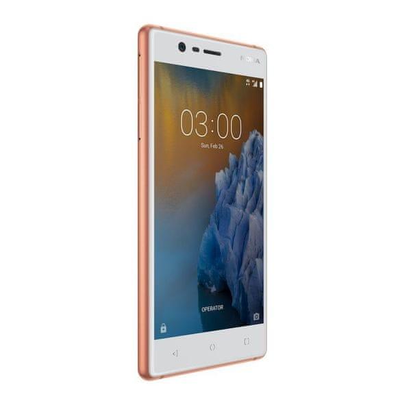 Nokia 3 Dual SIM, měděná - bílá