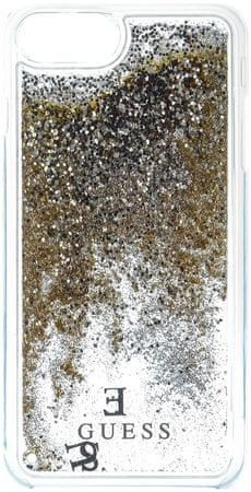 Guess ovitek za iPhone 7, Glitter Hard Gold