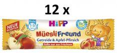 HiPP BIO Broskvovo-jablečná müsli tyčinka 12 x 20 g