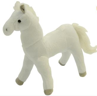 Unikatoy plišasti konj, beli Lipicanec, 29 cm 23372