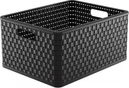 Rotho škatla za shranjevanje Country, 28 l, črna