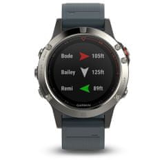 Garmin smartwatch fénix 5 Silver, Granite band