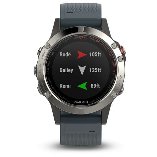 Garmin fénix 5 Silver, Granite band