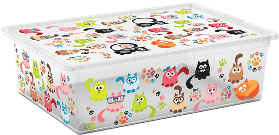 Kis kutija za spremanje C-Box Cute Animals, L, 27 l