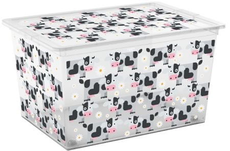 Kis škatla za shranjevanje C-Box Cute Animals, XL, 50 l