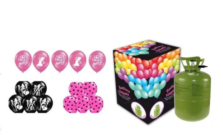 Helium sada ROZLUČKA SE SVOBODOU + 15 latexových balónků