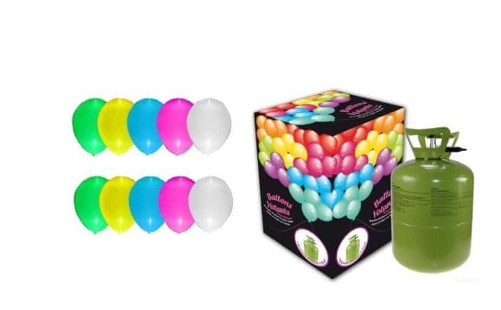 Helium sada SVÍTÍCÍ MALÁ PÁRTY + 10 svíticích latexových balónků