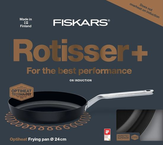 Fiskars Oyster Rotisser tava, 24 cm