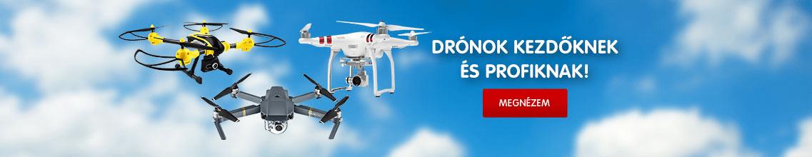 Drón és kiegészítők