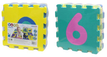 Unika penaste puzzle Baby 24917, številke, 9 kosov
