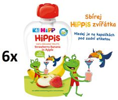 HiPP BIO 100% ovocie Jablko-Banán-Jahoda 6 x 100 g