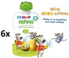 HiPP BIO 100% ovoce Hruška-Banán-Kiwi 6 x 100 g