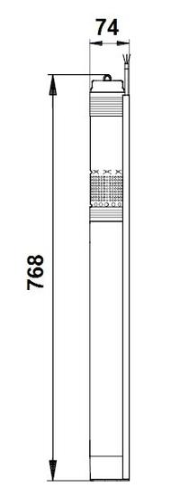 Grundfos večstopenjska potopna črpalka SQ 3-55 (96510206)