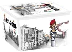 Kis škatla za shranjevanje C-Box Viva Italia, Cube, 27 l