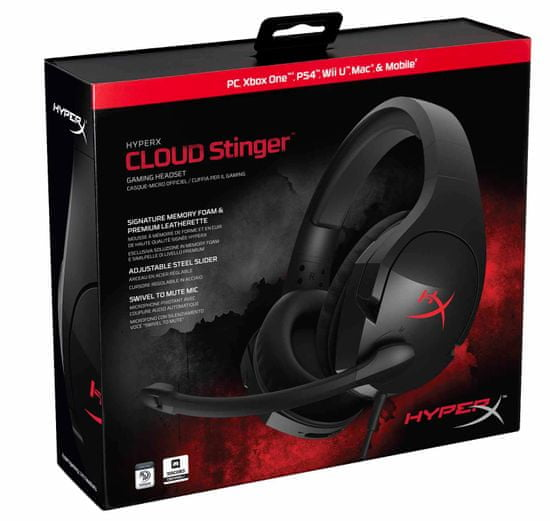 HyperX gaming slušalke z mikrofonom Cloud Stinger