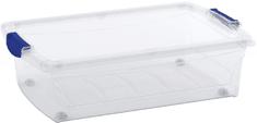 Kis škatla za shranjevanje Spinning Latch M, 30 l, prozorna