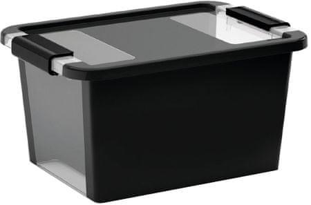 Kis škatla za shranjevanje Bi-box, S, 11 l, črna