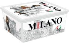 Kis škatla za shranjevanje C-Box Viva Italia, M, 18 l