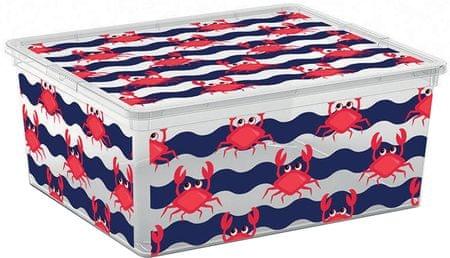 Kis škatla za shranjevanje C-Box Cute Animals, M, 18 l