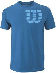 Wilson moška majica Shoulder W Cotton Tee, modra