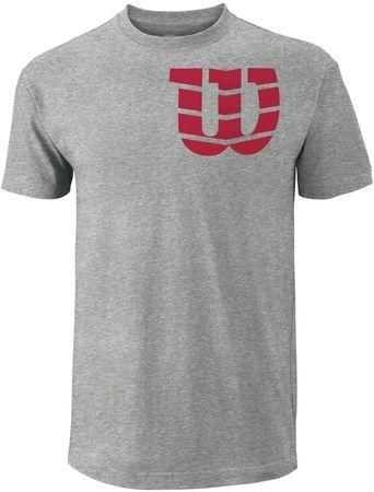 Wilson moška majica Shoulder W Cotton Tee, siva, L