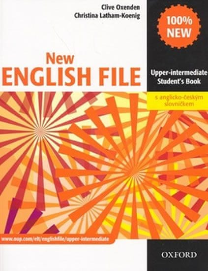 Oxenden Clive: New English File Upper-intermediate Student´s Book + czech wordlist