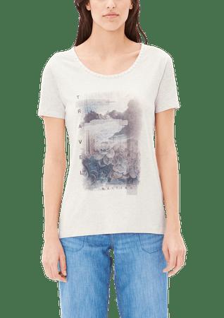 s.Oliver dámské tričko 36 smetanová