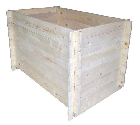 Portoss lesena visoka greda, 120x80x80 cm