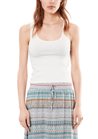 s.Oliver koszulka bez rękawów damska S kremowy