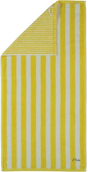 s.Oliver osuška 3701 proužky 70x180 cm žlutá