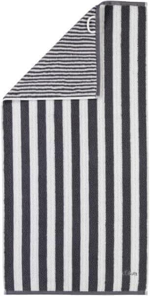 s.Oliver osuška 3701 proužky 70x180 cm černá