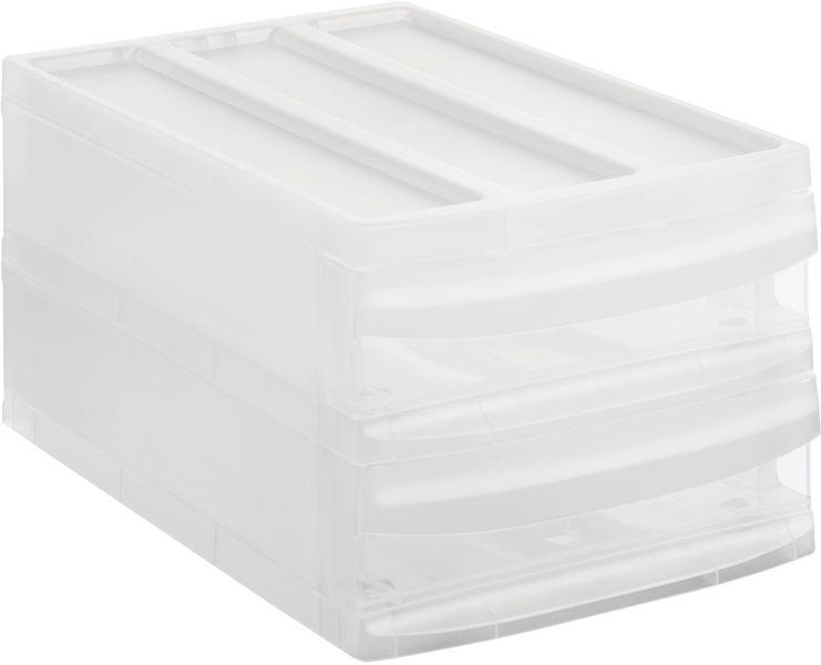Rotho Úložný box Systemix M Duo, bílý