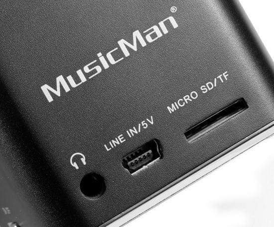 Technaxx MusicMan mini prenosný stereo reproduktor, čierny