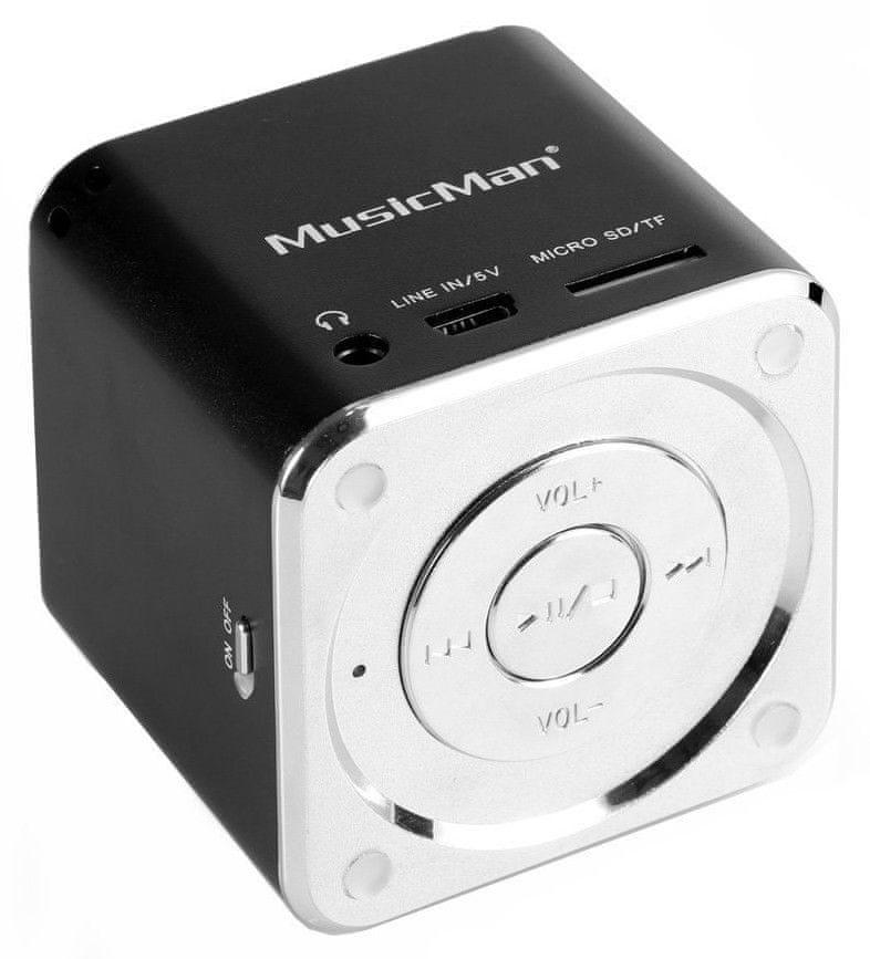 Technaxx MusicMan Mini přenosný reproduktor, černá