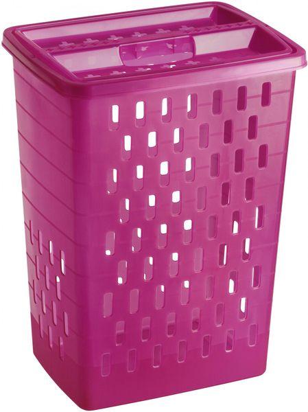 Rotho koš na špinavé prádlo Sunshine 40 l, růžový