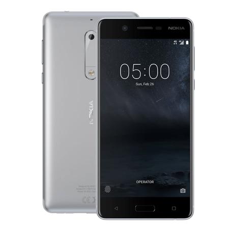 Nokia GSM telefon 5 Dual Sim, srebrn