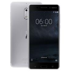 Nokia 6 Dual SIM, strieborná