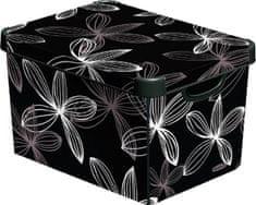 Curver Dekorativní úložný box Black Lily 25 l