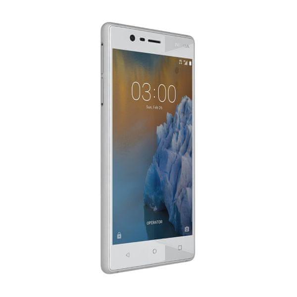 Nokia 3 Dual SIM, sříbrná - bílá