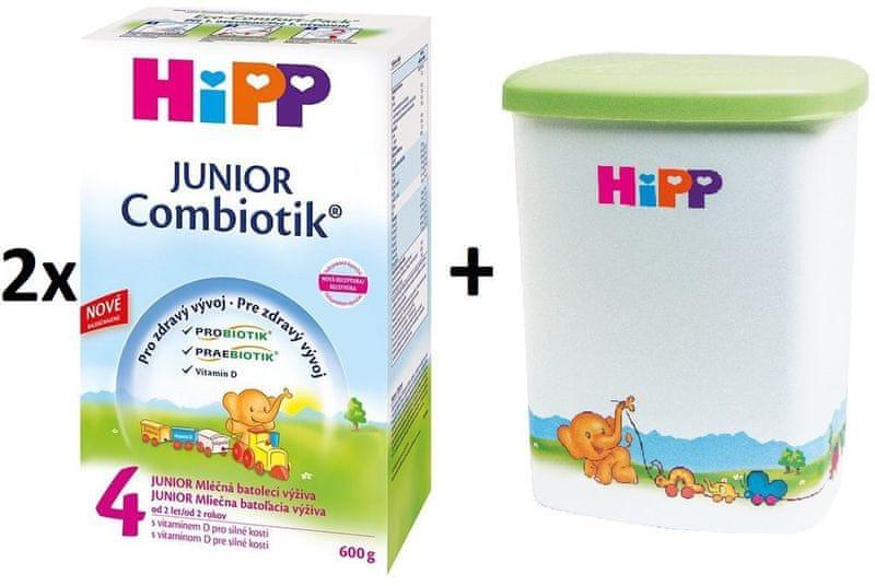 HiPP 4 Junior Combiotic - 2x600g + Dóza na kojenecké mléko