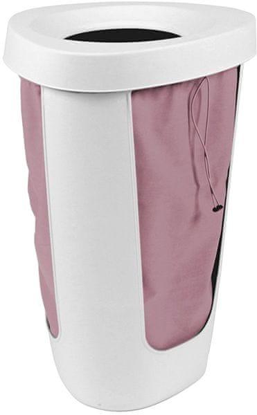 Rotho Koš na prádlo Fabu 50 l, růžová