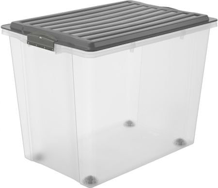 Rotho Úložný box Compact 70 l, antracitová