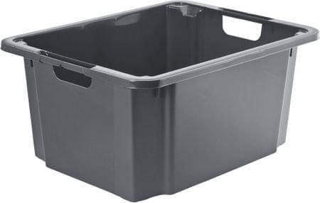 Rotho škatla za shranjevanje Reverso 46L, siva
